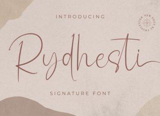Rydhesti Script Font