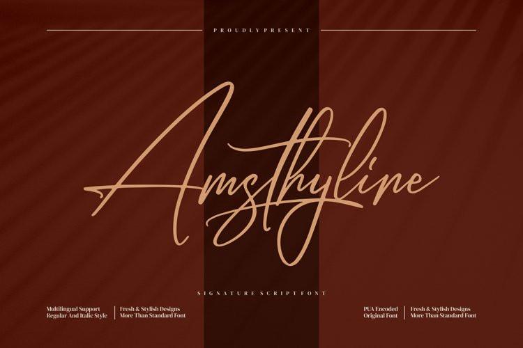 Amsthyline Script Font