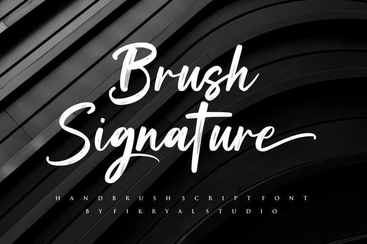Brush Signature Script Font