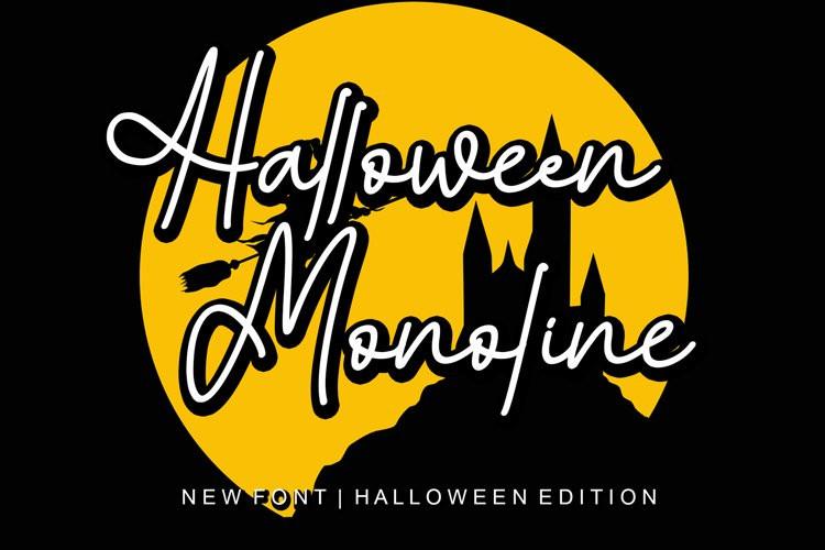 Halloween Monoline Script Font