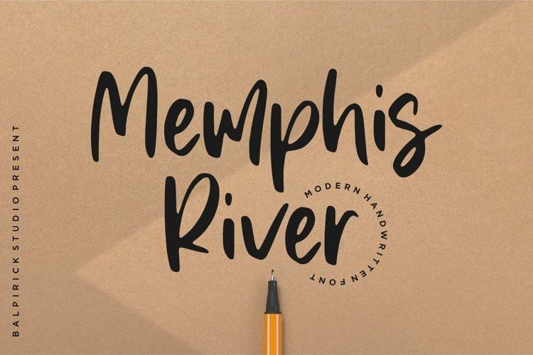 Memphis River Script Font