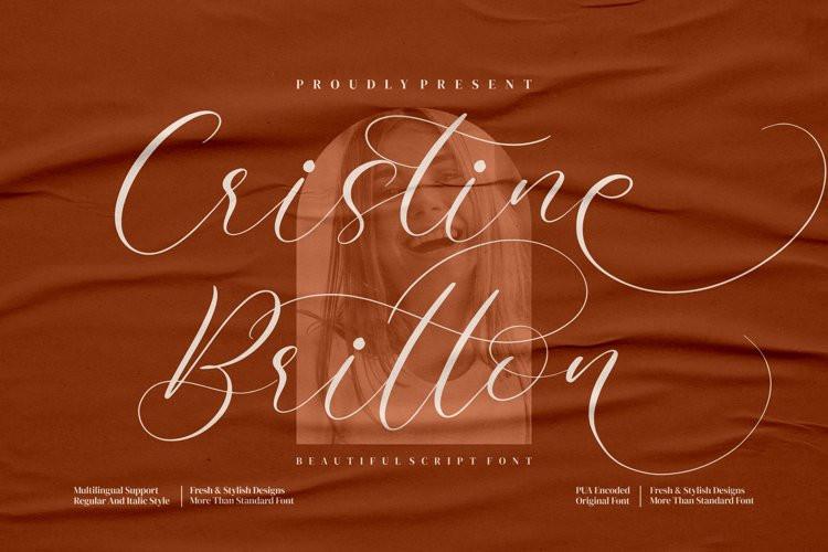 Cristine Britton Calligraphy Font