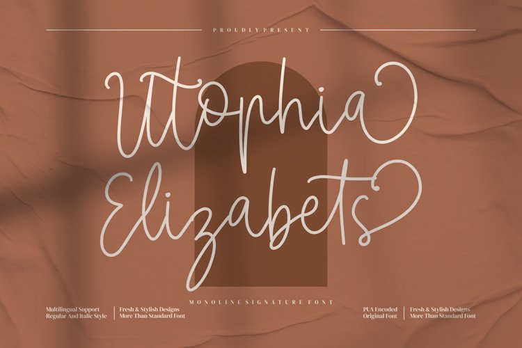 Utophia Elizabets Handwritten Font