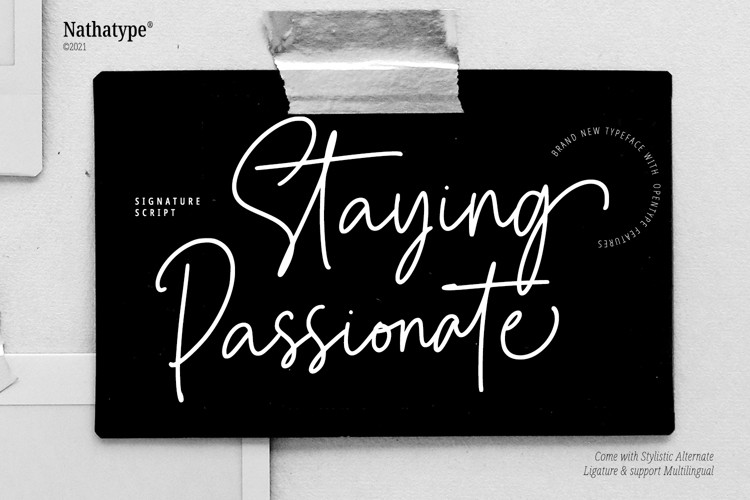 Staying Passionate Script Font