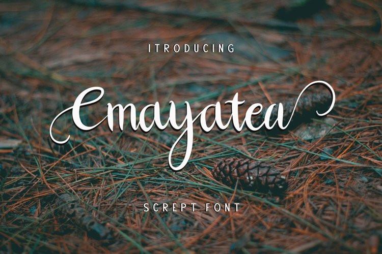 Cmayatea Calligraphy Font