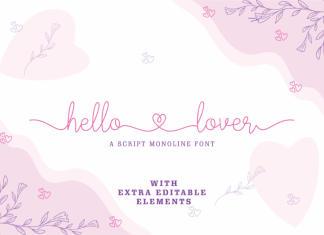 Hello Lover Handwritten Font