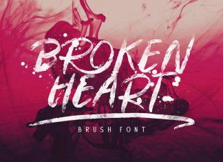 Broken Heart Brush Font