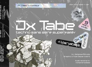 Jx Tabe Display Font