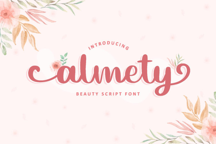 Almety Calligraphy Font