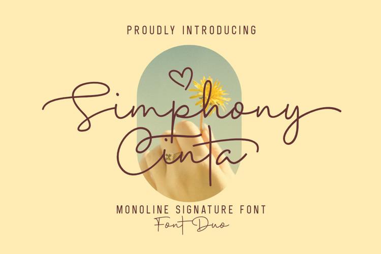 Simphony Cinta Handwritten Font