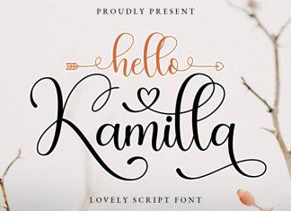Hello Kamilla Calligraphy Font