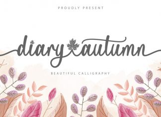 Diary Autumn Script Font