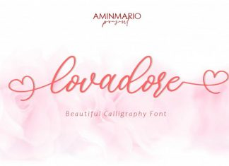 Lovadore Calligraphy Font