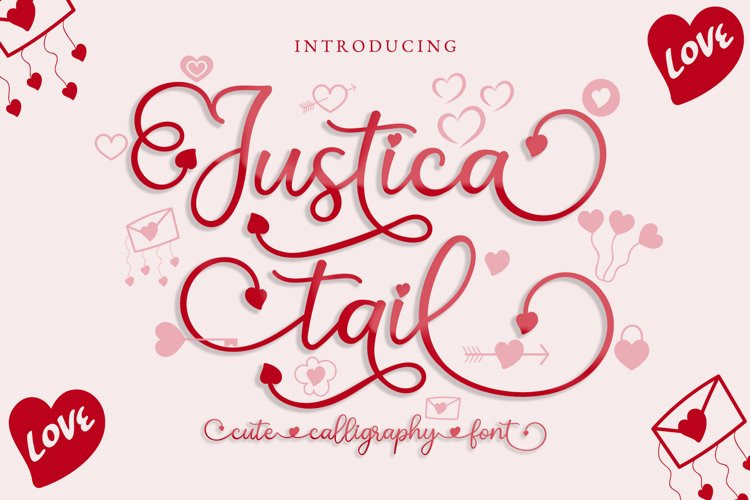 Justica Tail Calligraphy Font