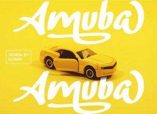 Amuba Script Font