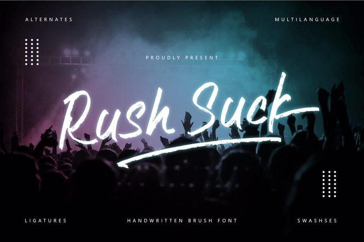 Rush suck Brush Font