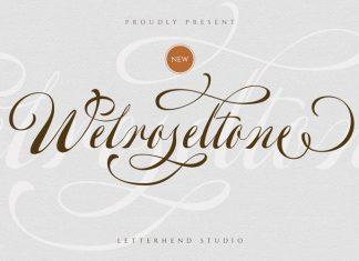 Welroseltone Calligraphy Font