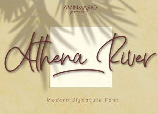 Athena River Handwritten Font