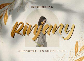Rinjany Brush Font