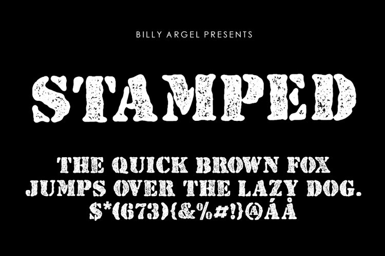 STAMPED Display Font