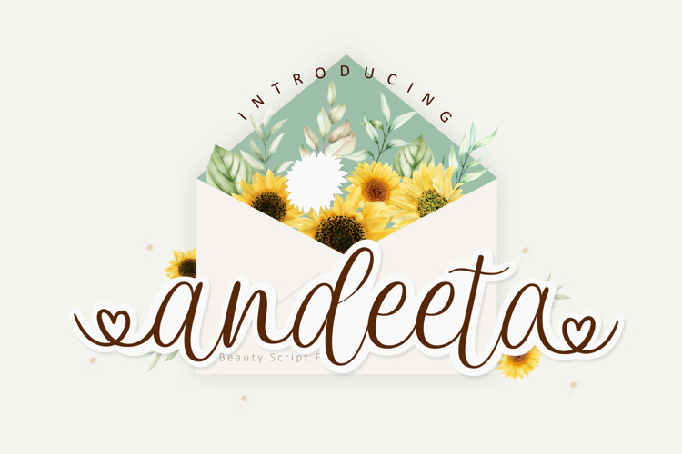 Andeeta Script Font