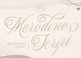Merodine Calligraphy Font