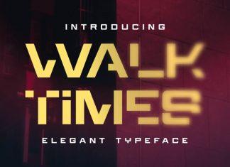 Walktimes Display Font