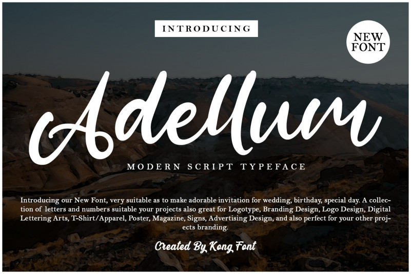 Adellum Script Font