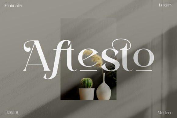 Aftesto Serif Font