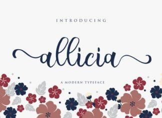 Allicia Calligraphy Font