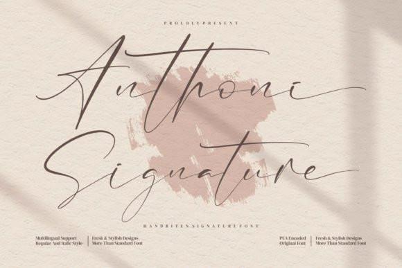 Anthoni Signature Script Font