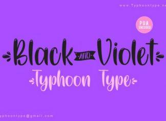 Black And Violet Script Font