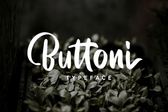 Buttoni Script Font