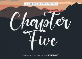 Chapter Five Script Font