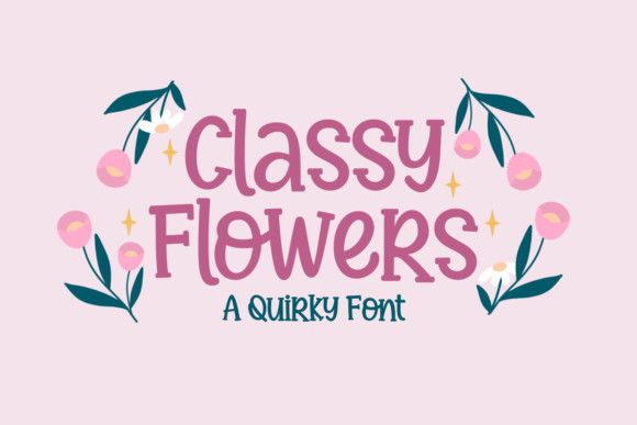 Classy Flowers Display Font