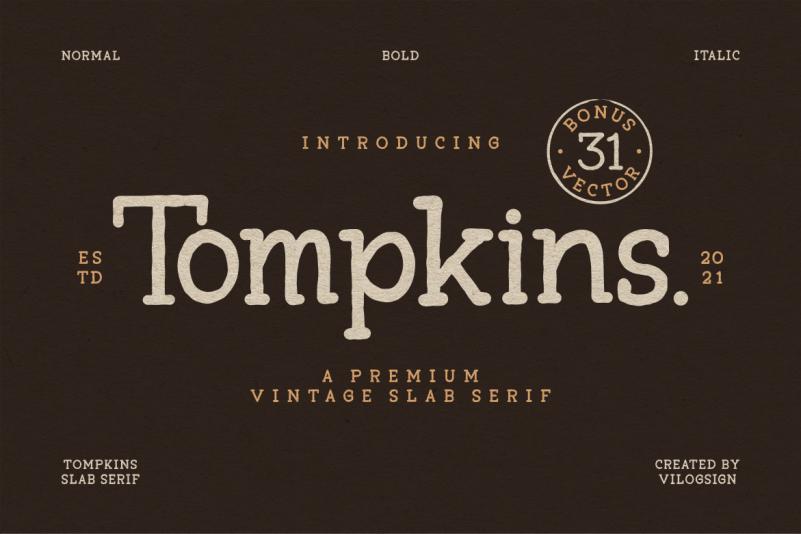 Tompkins Display Font