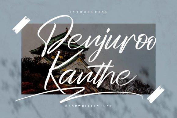 Denjuroo Kanthe Handwritten Font