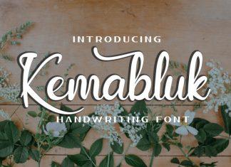 Kemabluk Script Font