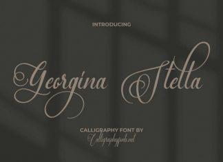 Georgina Stella Script Font