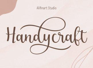 Handycraft Calligraphy Font