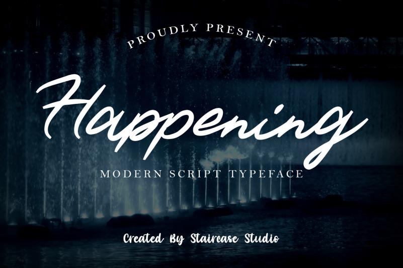 Happening Script Font
