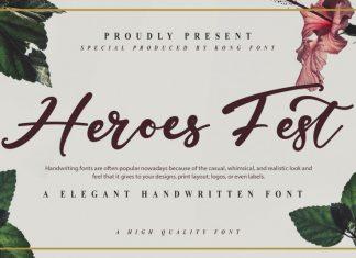 Heroes Fest Script Font