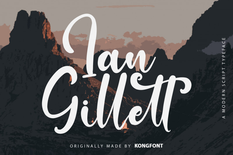 Ian Gillett Script Font