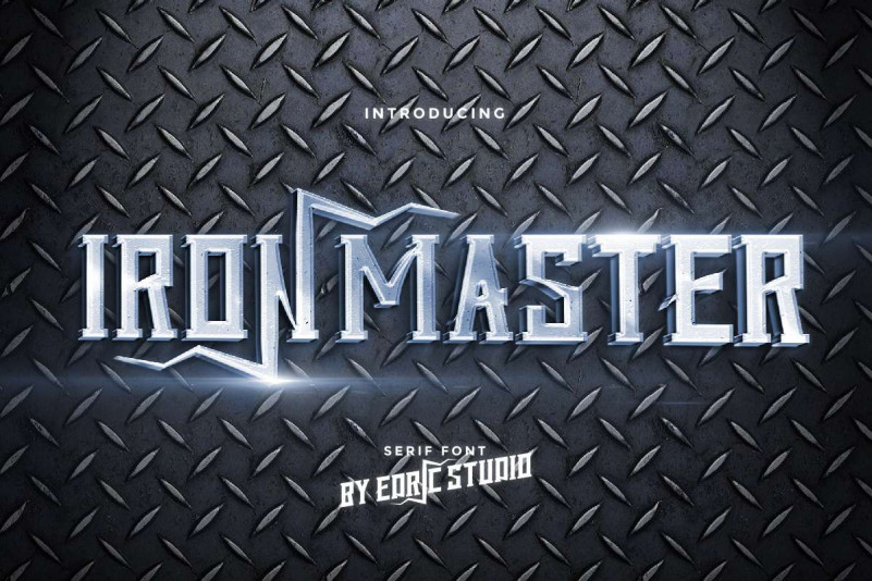 Iron Master Display Font