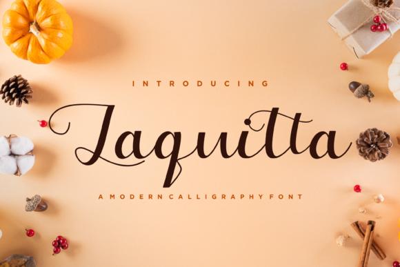 Laquitta Calligraphy Font