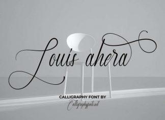 Louis Ahera Calligraphy Font