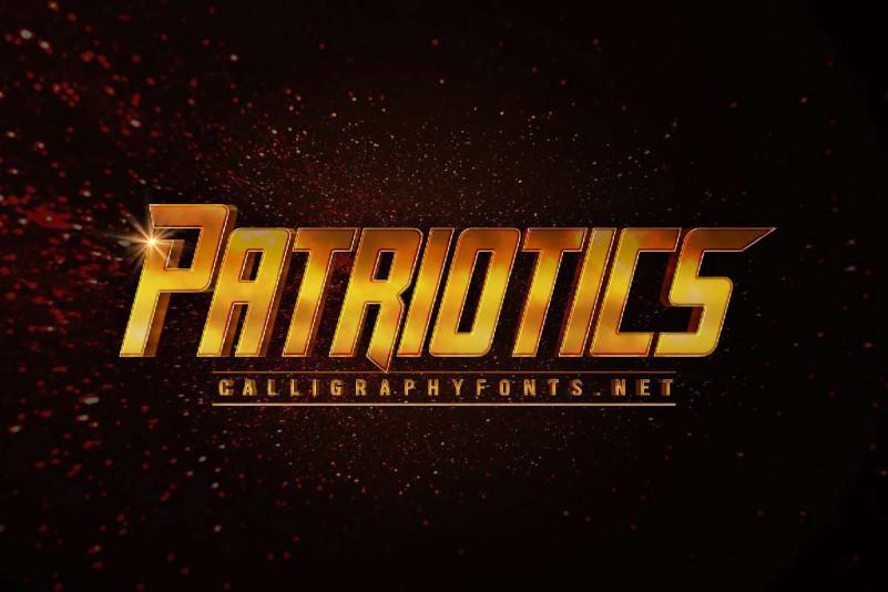 Patriotics Display Font