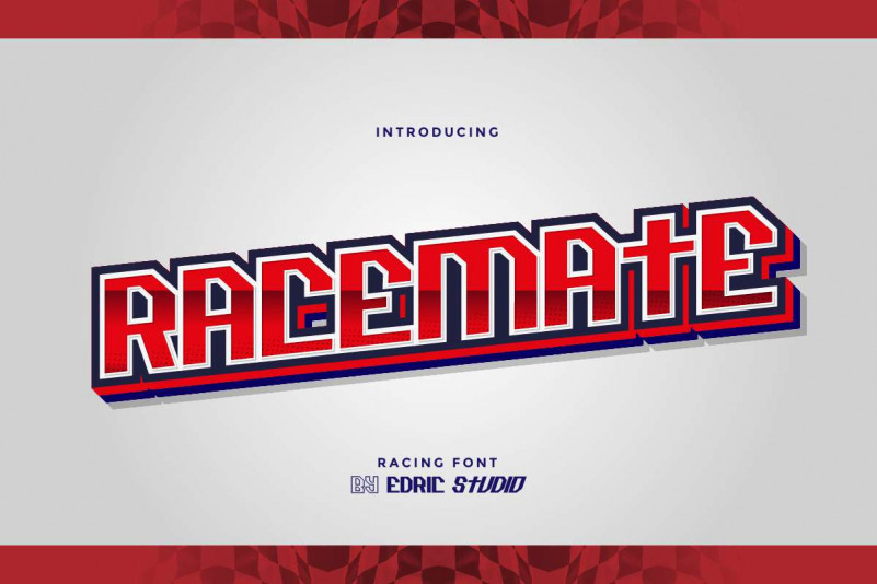 Racemate Display Font