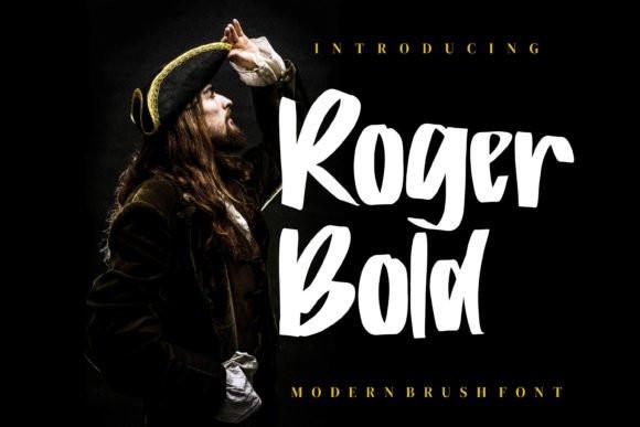 Roger Bold Brush Font