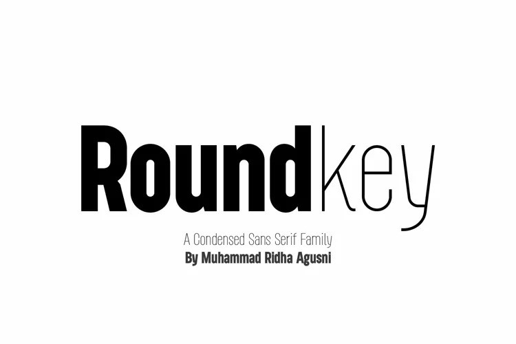 Roundkey Sans Serif Font